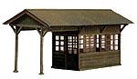 島式ホーム待合室